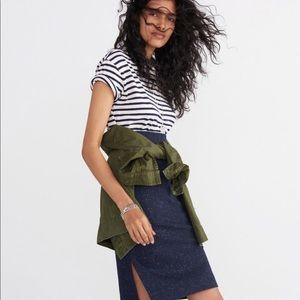 Madewell speckled navy blue pencil skirt Medium